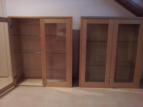 ikea h ngevitrinen in ludwigshafen wohnzimmerschr nke. Black Bedroom Furniture Sets. Home Design Ideas
