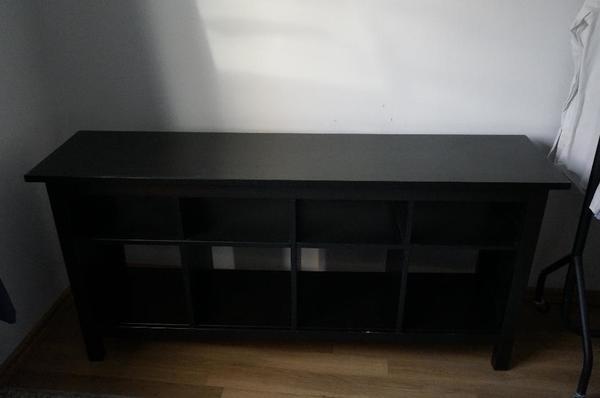 ikea hemnes sideboard ablagetisch massiv schwarzbraun in augsburg ikea m bel kaufen und. Black Bedroom Furniture Sets. Home Design Ideas