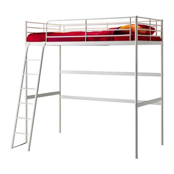 Ikea Esstisch Holz Ausziehbar ~ Ikea Hochbett Tromsö weiß gebraucht 2 Jahre alt in Erlangen  Kinder