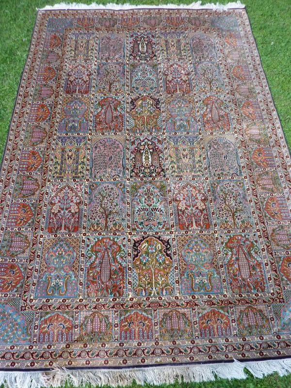 kaschmir seide teppich orientteppich 189x277 cm in m nchen teppiche kaufen und verkaufen. Black Bedroom Furniture Sets. Home Design Ideas