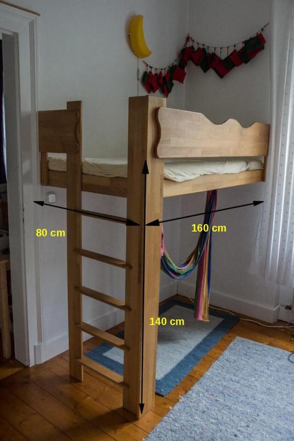 kinder hochbett massiv buche in darmstadt betten kaufen. Black Bedroom Furniture Sets. Home Design Ideas