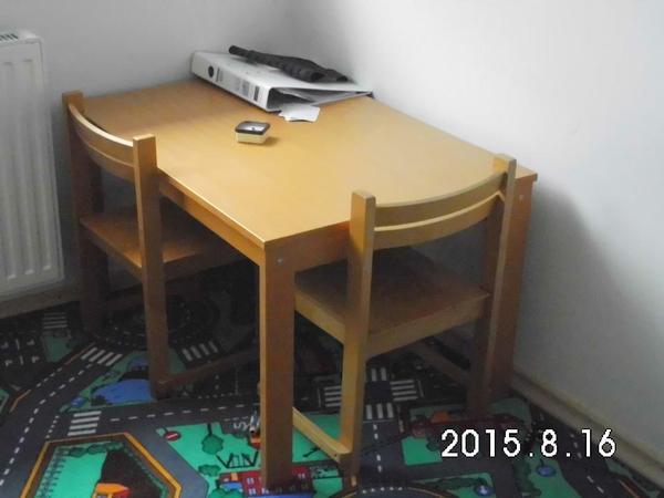kindertisch und stuhlgarnitur siehe foto tisch h he50 cm breit 60cm und lang 85 cm stuhl 30. Black Bedroom Furniture Sets. Home Design Ideas