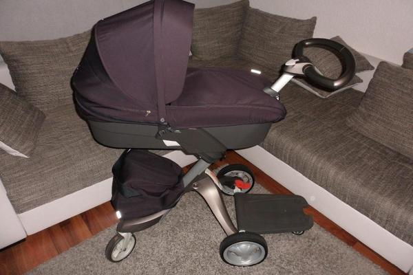 kinderwagen stokke xplory v4 komplett mit geschwisterboard in karlsruhe kaufen und verkaufen. Black Bedroom Furniture Sets. Home Design Ideas