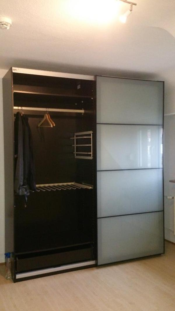 kleiderschrank milchglas ikea pax in bruchsal schr nke. Black Bedroom Furniture Sets. Home Design Ideas