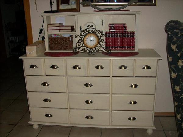 kommode apothekerschrank sideboard weiss shabby in. Black Bedroom Furniture Sets. Home Design Ideas