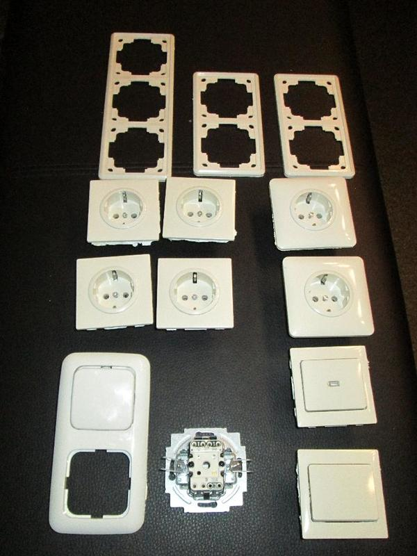 kopp steckdosen und schalter wei in stein elektro. Black Bedroom Furniture Sets. Home Design Ideas