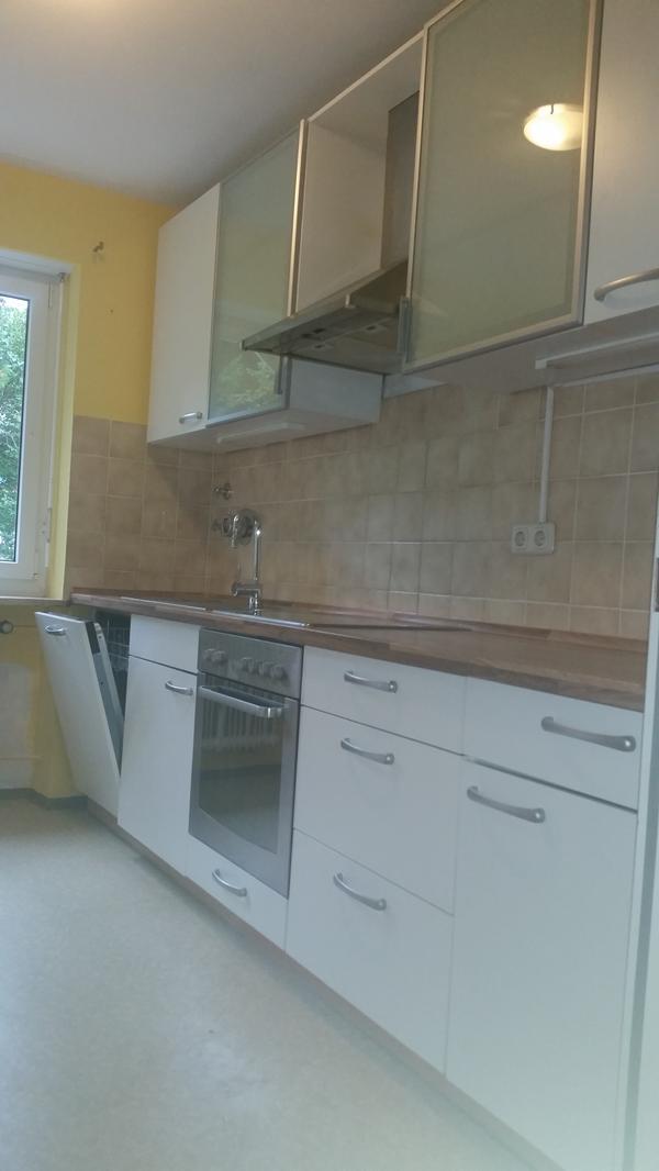 k chenzeile 5 jahre alt in sehr guten zustand farbe ist beige mit dunkelbrauner arbeitsplatte. Black Bedroom Furniture Sets. Home Design Ideas