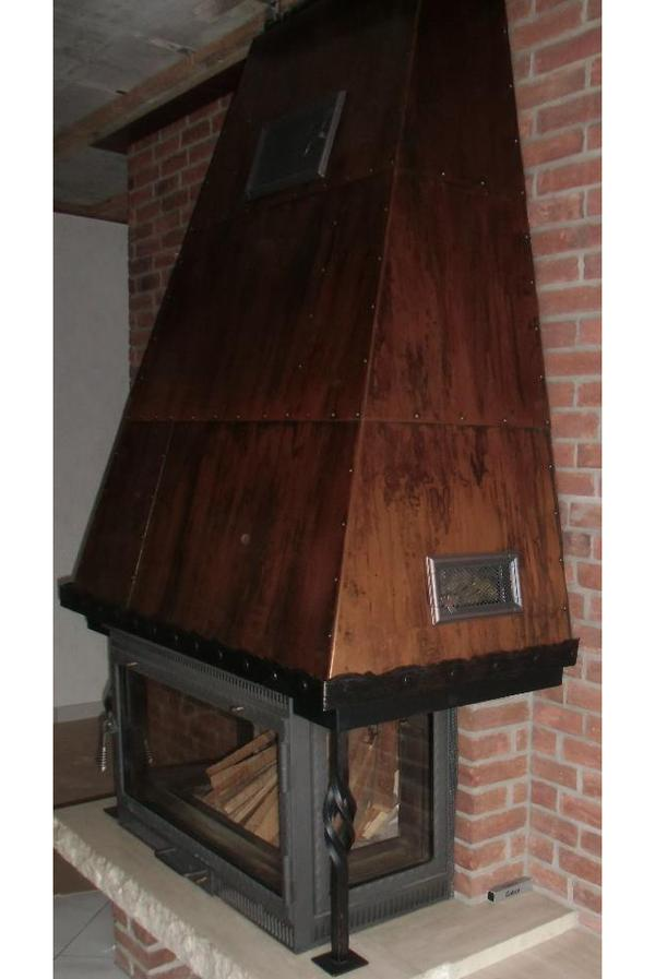 kupferhaube f r offenen kamin zu verkaufen in dielheim fen heizung klimager te kaufen und. Black Bedroom Furniture Sets. Home Design Ideas