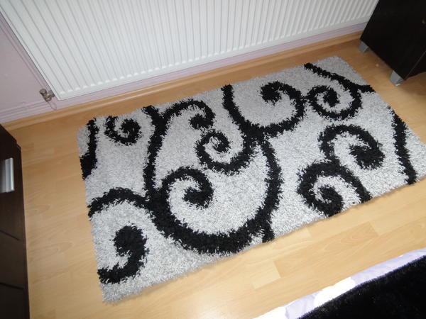 LALEE Shaggy Hochflor Teppich Läufer Vorleger 80 cm x 150