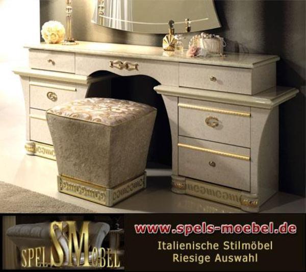 luxus bett doppelbett 160x200 holzkopfteil stilm bet italia beige gold kristalle in hamburg. Black Bedroom Furniture Sets. Home Design Ideas