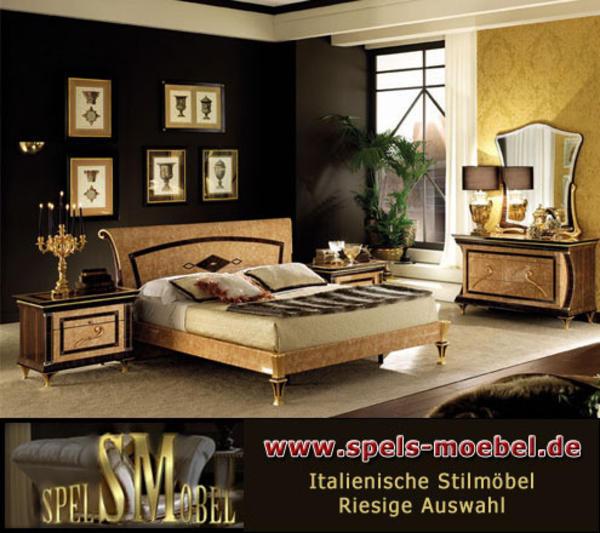 luxus m bel bett doppelbett nachtkonsole schlafzimmer rossini italienische klassische stilm bel. Black Bedroom Furniture Sets. Home Design Ideas