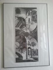 """M.C. Escher-Puzzle """"Up and Down"""" im Rahmen gebraucht kaufen  Leipzig Gohlis-Süd"""