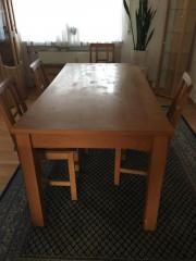 Massiv Esstisch 6 Stühle und Kommode Echtholz massiv Tisch 180cmx 90cm mit 6 Stühlen und Kommode 150x80. Sehr hochwertige Möbel. Es sind Wasserflecken auf der Oberfläche. Siehe Bilder ... 250,- D-90765Fürth Bislohe Heute, 17:16 Uhr, Fürth Bislohe - Massiv Esstisch 6 Stühle und Kommode Echtholz massiv Tisch 180cmx 90cm mit 6 Stühlen und Kommode 150x80. Sehr hochwertige Möbel. Es sind Wasserflecken auf der Oberfläche. Siehe Bilder