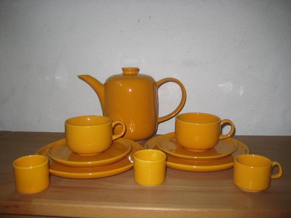 melitta tee kaffee essgeschirr gelb braun gr n blau in n rnberg geschirr und besteck. Black Bedroom Furniture Sets. Home Design Ideas