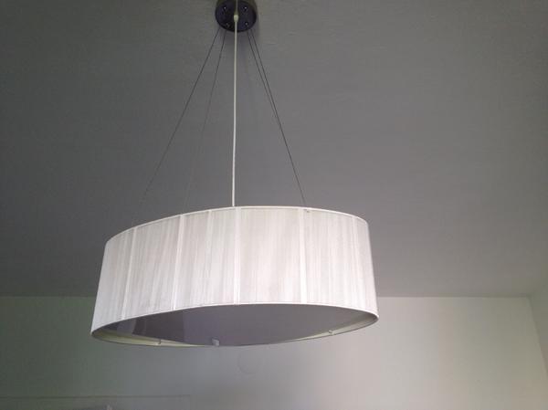 moderne weisse lampe oval in m nchen lampen kaufen und verkaufen ber private kleinanzeigen. Black Bedroom Furniture Sets. Home Design Ideas
