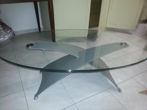 glastisch metall neu und gebraucht kaufen bei. Black Bedroom Furniture Sets. Home Design Ideas