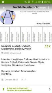 Nachhilfe Deutsch Englisch