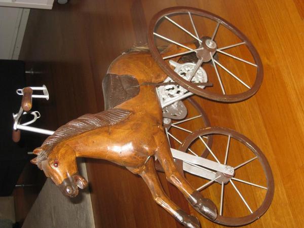 nostalgie pferd aus holz in heidelberg dekoartikel kaufen und verkaufen ber private. Black Bedroom Furniture Sets. Home Design Ideas