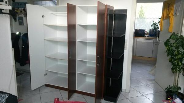 Ikea Einbau Kühlschrank Unterschrank ~ Nussbaum Ikea Schrank, Kleiderschrank mit schwarzem regal