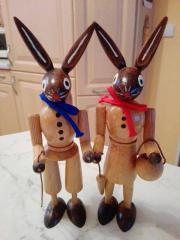 Osterhasenpaar aus Holz