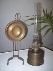 Petroleum-Lampe, antik,
