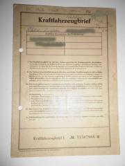 Porsche 356 Fahrzeugbrief
