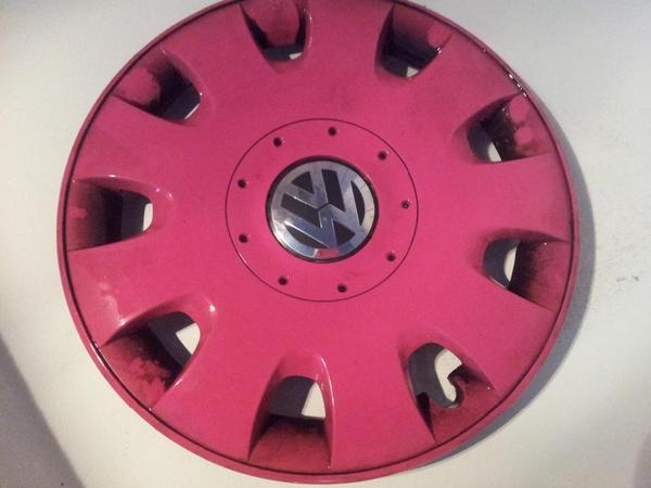 radkappen 15 zoll pink rosa vw golf 5 golf 6 golf v golf. Black Bedroom Furniture Sets. Home Design Ideas