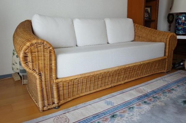 rattansofa rattantisch rattan sofa in m nchen polster sessel couch kaufen und verkaufen ber. Black Bedroom Furniture Sets. Home Design Ideas