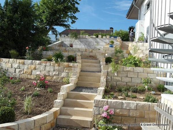 sandstein mauersteine sandsteinmauer sonstiges f r den garten balkon terrasse aus karben. Black Bedroom Furniture Sets. Home Design Ideas