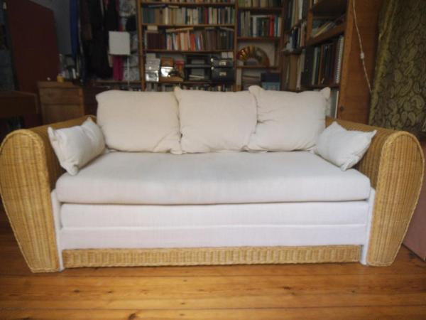 schlafsofa rattan in berlin polster sessel couch kaufen und verkaufen ber private. Black Bedroom Furniture Sets. Home Design Ideas