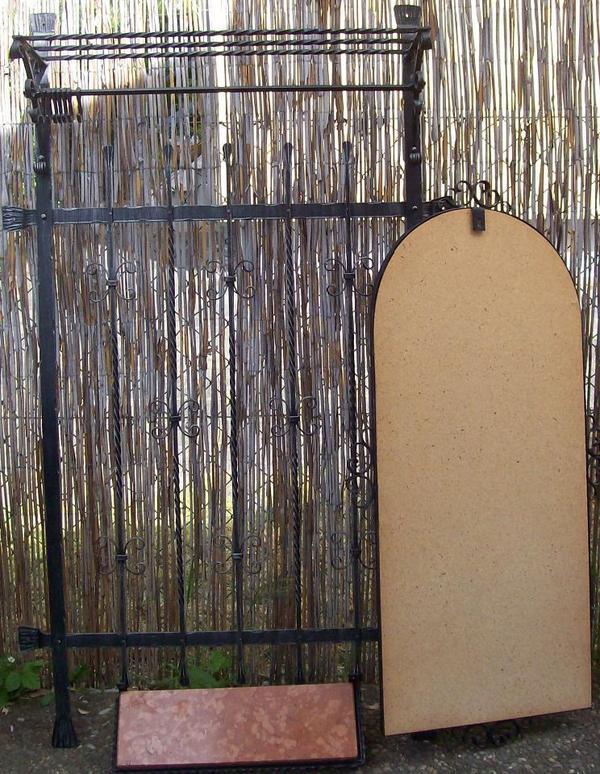 Wandgardrobe schmiedeeisern ma e 144x88x30cm dazu passend for Lampen neu isenburg