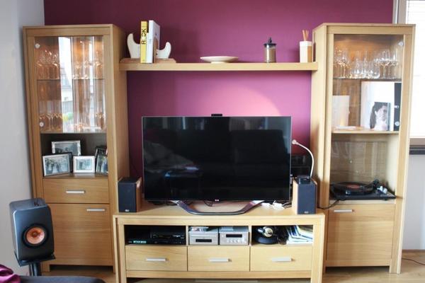 Schnäppchen!!!Moderne und formschöne Tchibo Wohnwand inklusive TV ...