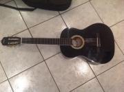 Schwarze Lack Gitarre