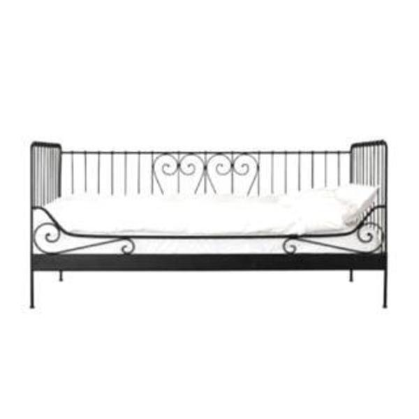 schwarzes metallbett ikea in mauer betten kaufen und verkaufen ber private kleinanzeigen. Black Bedroom Furniture Sets. Home Design Ideas