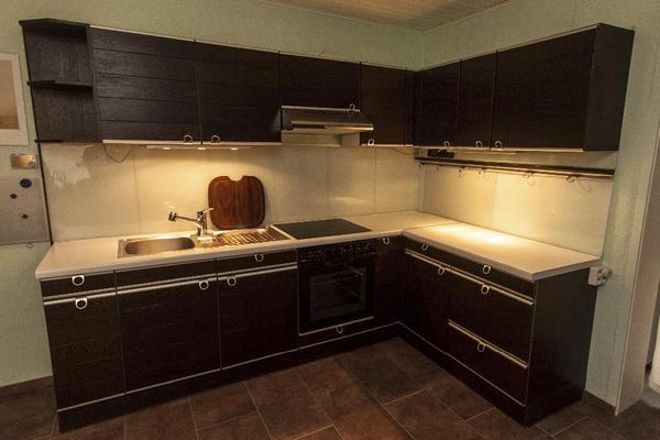sehr gepflegte echtholzk che wenge in l form 210cm und 170cm sofort verf gbar in mannheim. Black Bedroom Furniture Sets. Home Design Ideas
