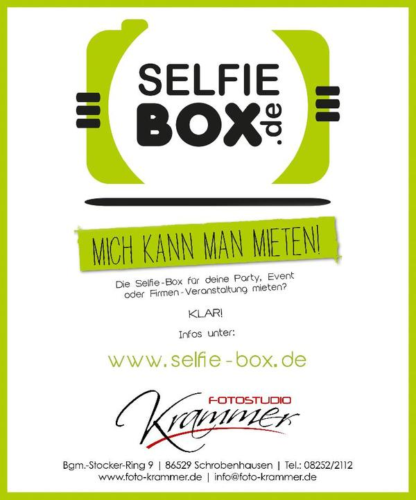 selfie box selfie foto kamera spa hochzeit geburtstag feier in schrobenhausen alles f r die. Black Bedroom Furniture Sets. Home Design Ideas