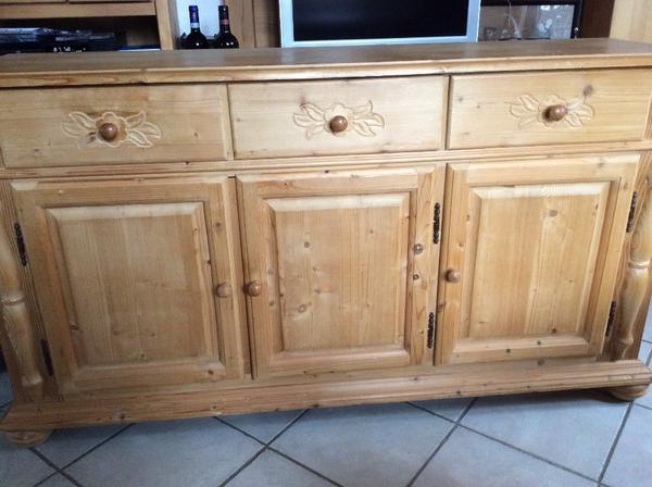 sideboard kiefer ge lt normale gebrauchspuren breite 145 cm tiefe 40 cm h he 80 cm oben. Black Bedroom Furniture Sets. Home Design Ideas