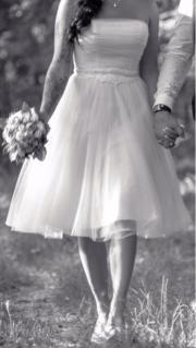 sommerliches Hochzeitskleid Größe