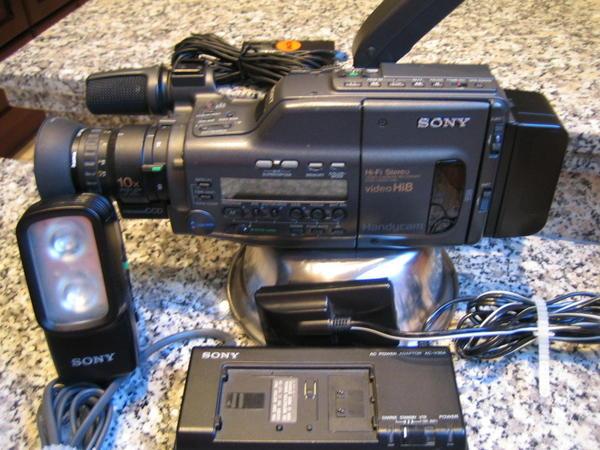 sony camcorder f r reparatur ausschlachten in berlin camcorder analog vhs usw kaufen. Black Bedroom Furniture Sets. Home Design Ideas