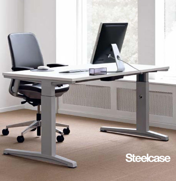 steelcase activa lift 2 tisch typ 10 gerade mit standardplatte in meitingen b rom bel kaufen. Black Bedroom Furniture Sets. Home Design Ideas