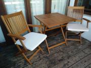 Teakholz Sitzgruppe - Tisch +