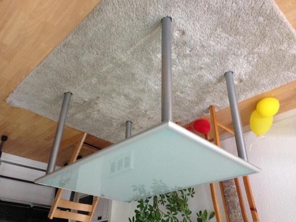tisch vercromt milchglas in berlin ikea m bel kaufen und. Black Bedroom Furniture Sets. Home Design Ideas
