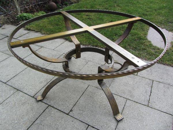 Tischgestell wohnzimmertisch geschmiedet in dachau for Wohnzimmertisch quoka