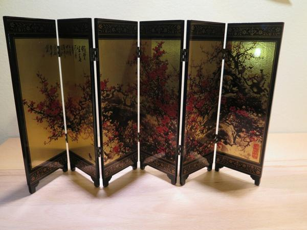 tischparavent mini paravent tischdeko echtholz 47 4 x 24 0 cm in dachau dekoartikel kaufen. Black Bedroom Furniture Sets. Home Design Ideas
