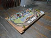 TT-Eisenbahnplatte rund