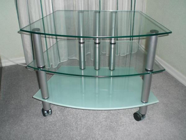 tv glastisch mit rollen in schorndorf phono tv. Black Bedroom Furniture Sets. Home Design Ideas