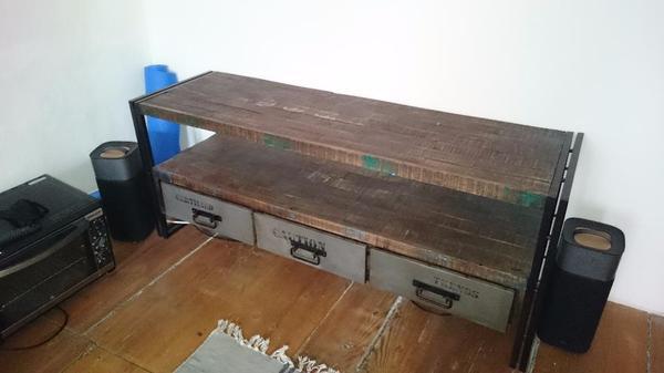 tv lowboard vintage industriedesign antik look in. Black Bedroom Furniture Sets. Home Design Ideas