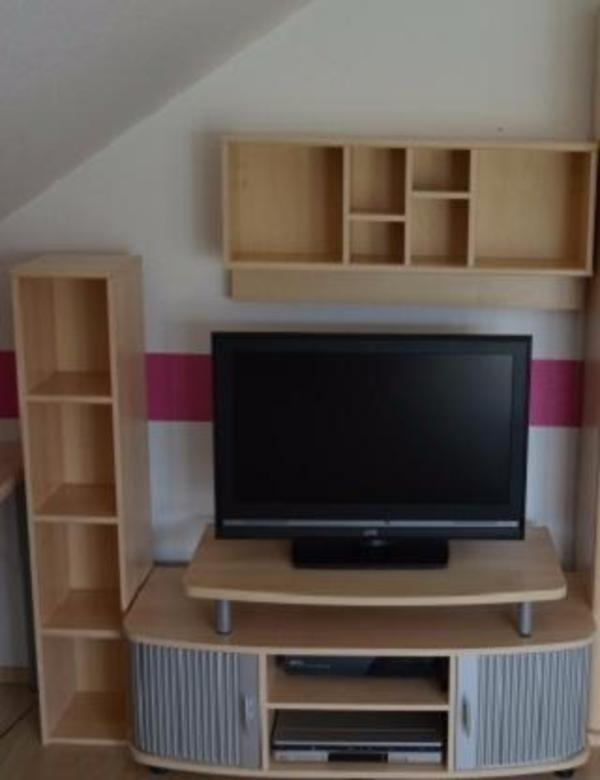 tv wand schrank mit vitrine in ubstadt weiher phono tv videom bel kaufen und verkaufen. Black Bedroom Furniture Sets. Home Design Ideas
