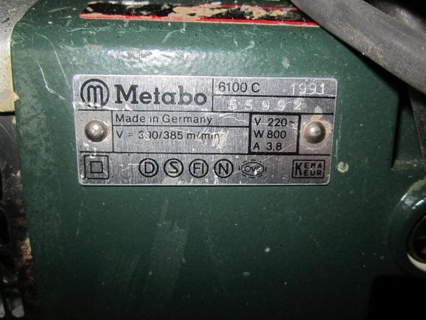 verkaufe metabo bandschleifer 6100 c profiger t in. Black Bedroom Furniture Sets. Home Design Ideas