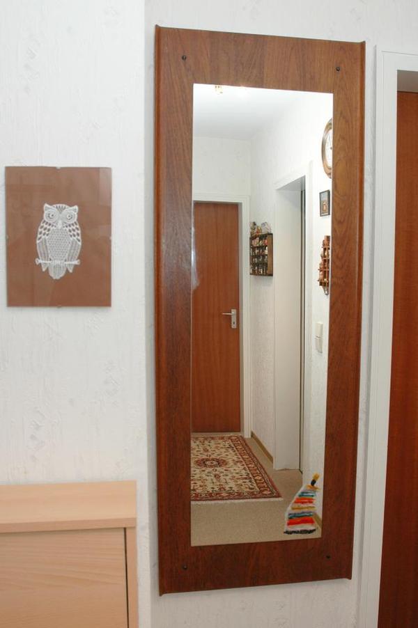 vintage wandspiegel aus sch nem alten teakholz in karlsruhe designerm bel klassiker kaufen. Black Bedroom Furniture Sets. Home Design Ideas